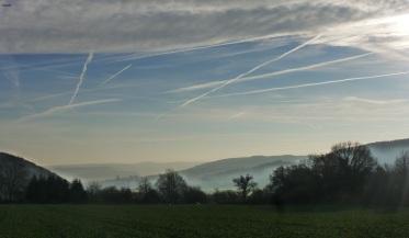 Landschaft mit schönen Himmel17.12.2013