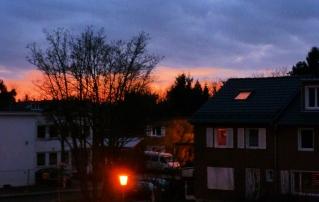 Schöner Himmel in Köln.