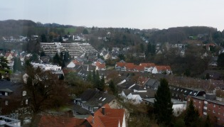 Blick vom Krankenhaus über Bergisch Gladbach.